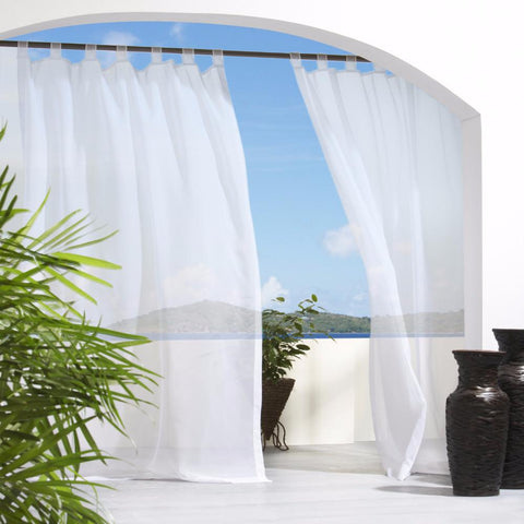 Escape Sheer Indoor/Outdoor Hook and Loop Tab Top Panel