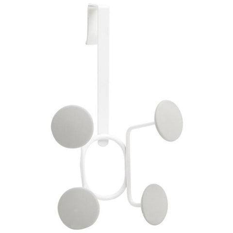 Yook Over The Door Hook - 4 White/Grey Hooks
