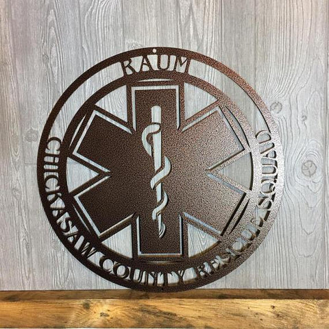 Star of Life Paramedic EMT Personalized Sign