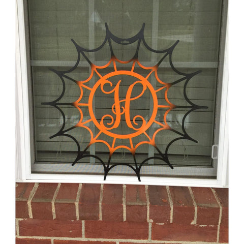 Spiderweb Monogram Door Wreath,