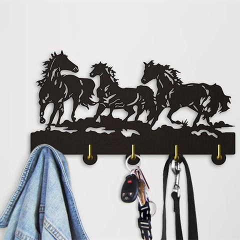 1Piece Running Horse Wall Door Hook Hanger