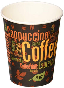Gogo Paper Hot Cups White - Paper Hot Cups 8 Oz. - Packed 20/50's