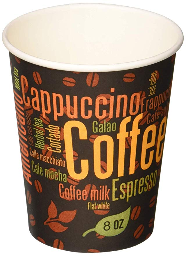 Gogo Paper Hot Cups - CD - Paper Hot Cups 20 Oz. - Packed 12/50's - Coffee Design