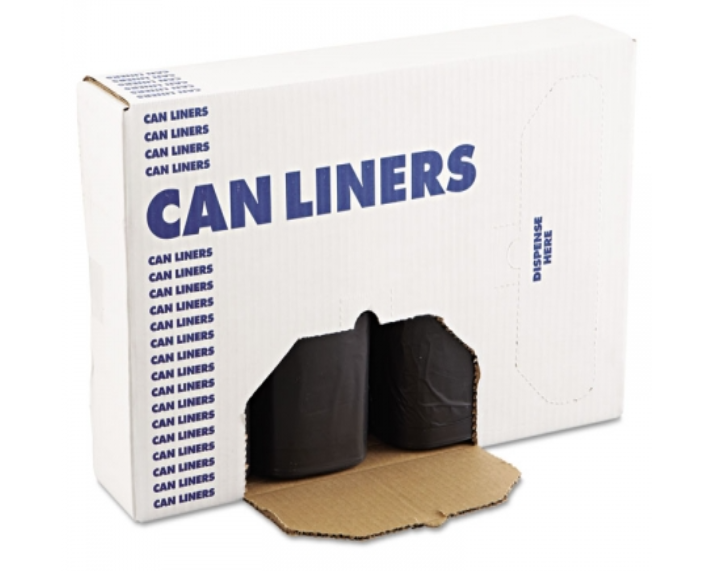 Black Can Liner Roll 38x58 - 1mL - 100cs