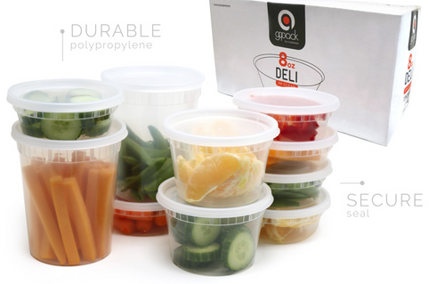 Microwave/Deli Containers - 8 Oz. Clear Cup - 500 Bulk Pack
