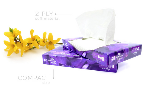 Silky Soft Facial Tissue - Mini Facial Tissues