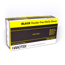 Load image into Gallery viewer, 100 Hand-Tek Black Powder-Free Nitrile Gloves