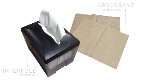 Lagovo Paper Napkins - Quick Dispenser Napkin Virgin White - 1/4 Fold - Packed 12/500