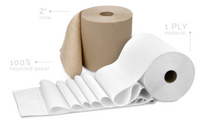 Greensoft Paper Towels - Hand Roll Towel White - Packed 12/Case