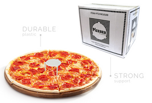 "Pizzaza Pizza Toppers - 1.5"" Pizza Topper PP White Plastic Packed 10/100 Per Bag"