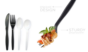 Sleek Heavy Wt. PP Black Cutlery - Forks 1000/c