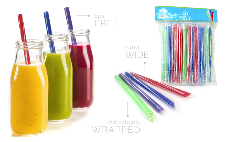 Sip-n'-Joy Straws and Stirrers - Bubble Tea Straws