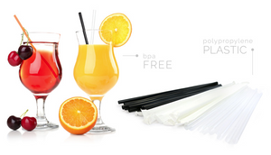 "Sip-n'-Joy Straws and Stirrers - Jumbo Straw Black Individual Clear Cello Wrapped 7.75"" - Packed 10/500"
