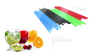 "Sip-n'-Joy Straws and Stirrers - Sip Stirrer 5"" Red - Packed 10/1000"