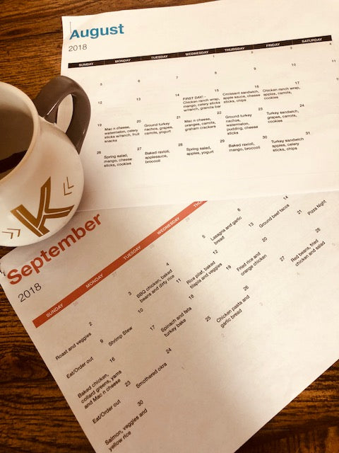 Saving Time With Menu Calendars