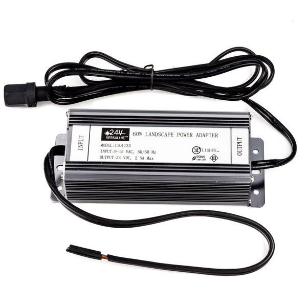 Environmental Lights 24 Volt DC Versaline Landscape Power Supply (60 Watts), 9-15 VAC input from OnSetLighting.com