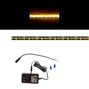 Environmental Lights Continuous LED Strip Light - 2,700K - Black Finish - Sample Kit from OnSetLighting.com