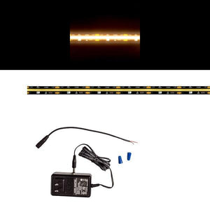 Environmental Lights Continuous LED Strip Light - 3,000K - Black Finish - Sample Kit from OnSetLighting.com