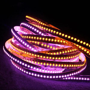 Environmental Lights Pink 3528 Single Row LED Strip Light, 240/m, 10mm wide, by the 5m Reel from OnSetLighting.com