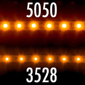Environmental Lights Amber 5050 LED Strip Light, 60/m, 10mm wide, Sample Kit from OnSetLighting.com