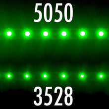 Load image into Gallery viewer, Environmental Lights Green 5050 LED Strip Light, 60/m, 10mm wide, by the 5m Reel from OnSetLighting.com