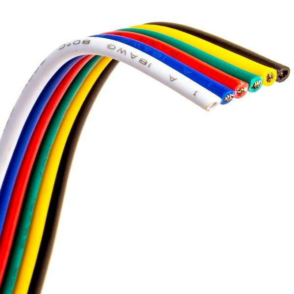 Environmental Lights 6 Conductor wire - 18 AWG cable, by the foot from OnSetLighting.com
