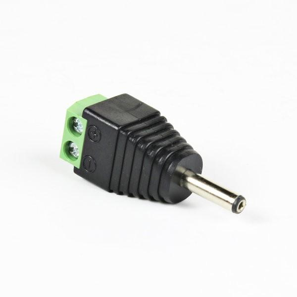 Environmental Lights DC Power Male Connector Plug to Screw Terminal (1.3 mm ID x 3.5mm OD) from OnSetLighting.com
