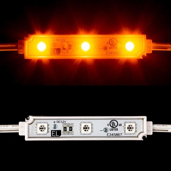 Environmental Lights Waterproof Dimmable LED Module, 3 LEDs per High Brightness Module with 5050 LEDs, Plastic (amber) from OnSetLighting.com