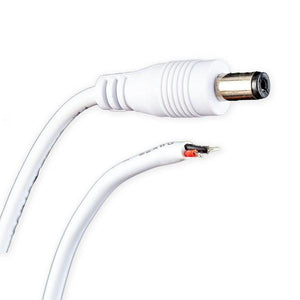 "Environmental Lights Male Mini Power Supply Plug and 8"" Cord - White from OnSetLighting.com"