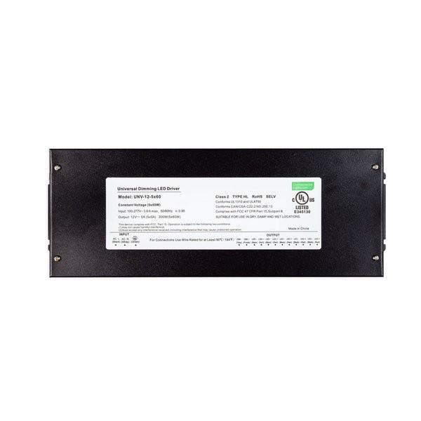 Environmental Lights Universal Dimming Driver - 12 VDC - 5x60W from OnSetLighting.com