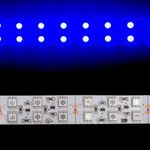 Load image into Gallery viewer, Environmental Lights Blue 5050 Double Row CurrentControl LED Strip Light, 120/m, 20mm wide, by the 5m Reel from OnSetLighting.com