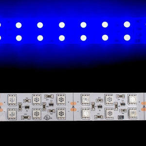 Environmental Lights Blue 5050 Double Row CurrentControl LED Strip Light, 120/m, 20mm wide, by the 5m Reel from OnSetLighting.com