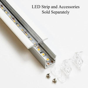 Environmental Lights CS004-2m LED Channel System Including Base led-track-aluminum-2m and Top led-track-cover-wing-clear-2m from OnSetLighting.com