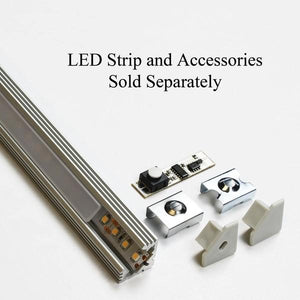 Environmental Lights CS071-2m LED Channel System Including Base Klus-B4023ANODA-2m and Top Klus-1369-2m from OnSetLighting.com
