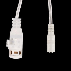 Environmental Lights PowerTrack Twist Lock Cable - White - Female Barrel Connector - 1m from OnSetLighting.com