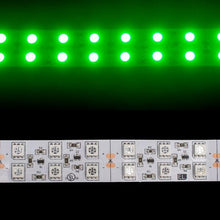 Load image into Gallery viewer, Environmental Lights Green 5050 Double Row CurrentControl LED Strip Light, 120/m, 20mm wide, by the 5m Reel from OnSetLighting.com