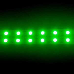 Environmental Lights Green 5050 Double Row CurrentControl LED Strip Light, 120/m, 20mm wide, by the 5m Reel from OnSetLighting.com