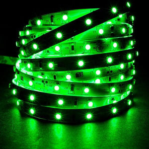 Environmental Lights Green 3528 LED Strip Light, 60/m, 8mm wide, by the 5m Reel from OnSetLighting.com