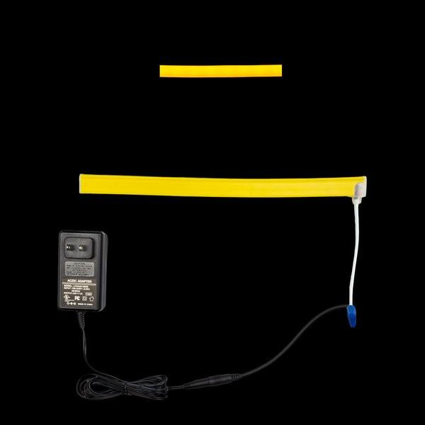 Environmental Lights Yellow LED Neon, with Yellow Finish, Injection Molded Ends with Bottom Cable Exit, Sample Kit from OnSetLighting.com