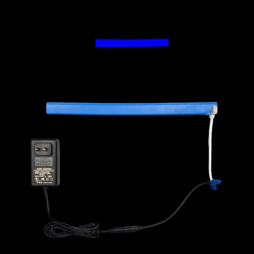 Environmental Lights Blue LED Neon, with Blue Finish, Injection Molded Ends with Bottom Cable Exit, Sample Kit from OnSetLighting.com