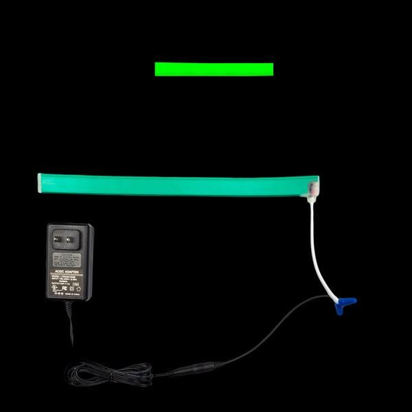 Environmental Lights Green LED Neon, with Green Finish, Injection Molded Ends with Bottom Cable Exit, Sample Kit from OnSetLighting.com