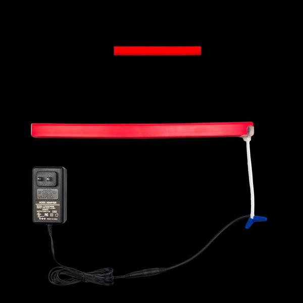 Environmental Lights Red LED Neon, with Red Finish, Injection Molded Ends with Bottom Cable Exit, Sample Kit from OnSetLighting.com