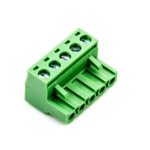 MALE/FEMALE PHOENIX-STYLE TERMINAL BLOCK CONNECTOR SET (5 PINS) from Environmental Lights and OnSetLighting.com