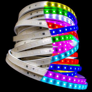 Environmental Lights RGB 5050 PixelControl LED Super Flat Rope, 56/m, with White Finish, by the 20m Reel from OnSetLighting.com