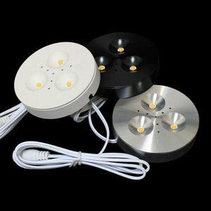 Environmental Lights Plug-and-Play LED Puck Light Kit, White Finish, Neutral White from OnSetLighting.com
