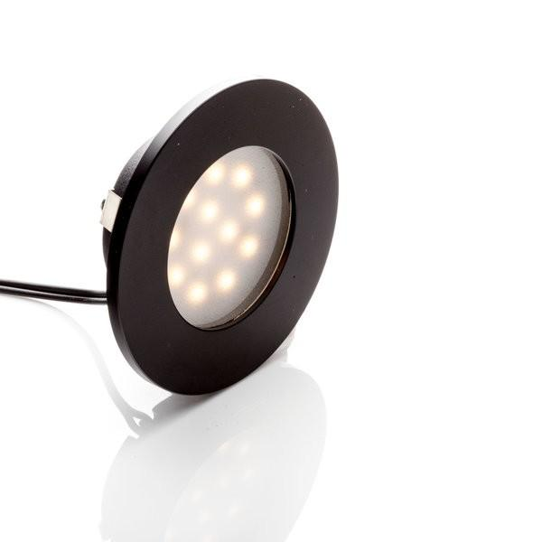 Environmental Lights LED Puck Light, Black Finish, 3000K from OnSetLighting.com