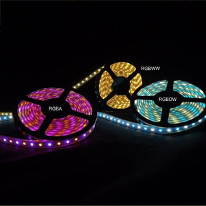 Environmental Lights Waterproof RGBWW 5050 ColorPlus LED Strip Light, 60/m, 12mm wide, by the 5m Reel from OnSetLighting.com