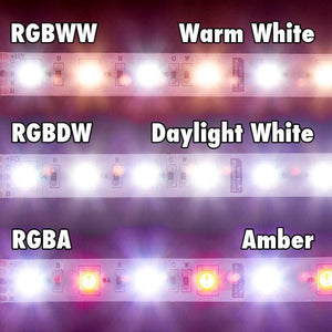 Environmental Lights RGBDW 5050 ColorPlus LED Strip Light, 60/m, 12mm wide, by the 5m Reel from OnSetLighting.com