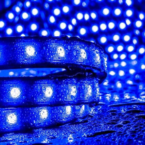 Environmental Lights Blue 5050 LED Super Flat Rope, 60/m, with Black Finish, by the 20m Reel from OnSetLighting.com