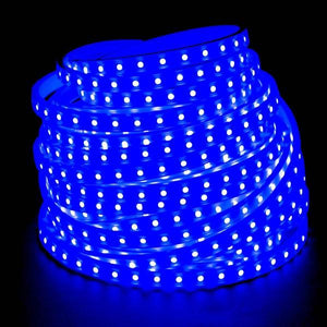 Environmental Lights Blue 5050 LED Super Flat Rope, 60/m, with White Finish, Sample Kit from OnSetLighting.com